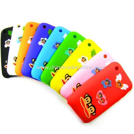 Angle Paul Frank Soft Silicone Rubber cover for Iphone 3G 3GS - 9 colors for choose