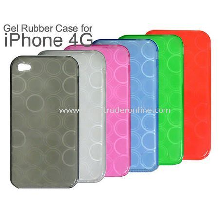 Circle TPU Soft Silicone Case Cover for Apple Iphone 4th - 5PCS/Bulk