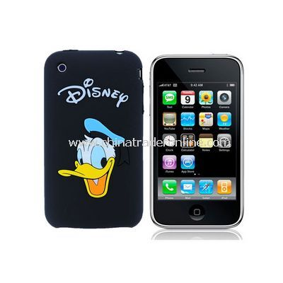 Donald Duck design Silicon/Rubber Case Skin for Apple iphone 3G 3GS (8 color for choose)