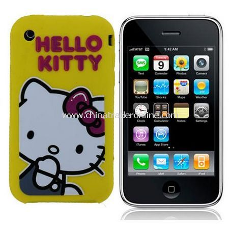 Hello Kitty Cartoon Silicone Case Skin for Apple Iphone - 9 Colors for choose