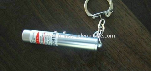 LED + laser pointer keychain flashlight