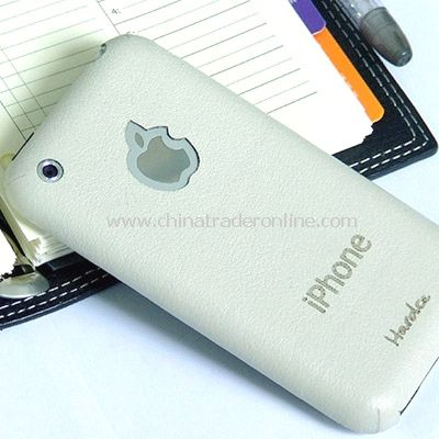 New iMAT II Genuine Leather back cover Skin For iPhone - White from China