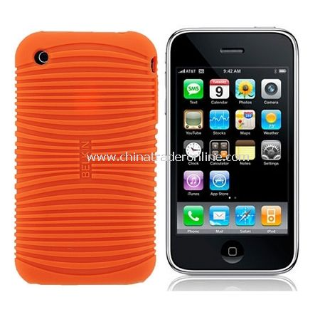 Non-slip soft silicone cover case for Iphone 3G/ 3GS