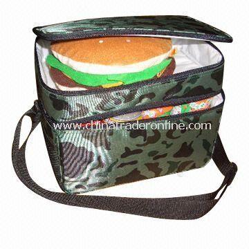 420D Polyester Cooler Bag with Left Side Pocket and Shoulder Strap from China