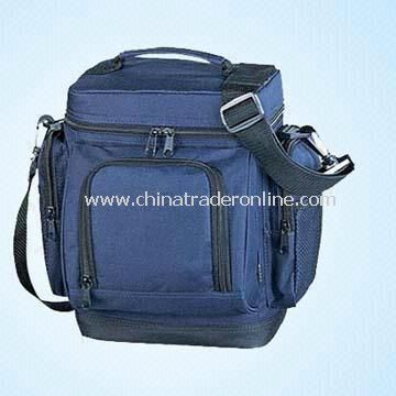 600D Cooler Bag, Measuring 19.5 x 14.5 x 27cm with One Extra Zip Pocket on Front