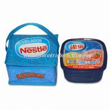 Blue-quadrate Water-resistant Cooler/Ice Bag, Suitable for Food Grade-packing, RoHS Approved from China
