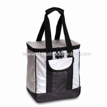 Cooler Bag with Front Flat Pocket, Made of 600D Polyester from China