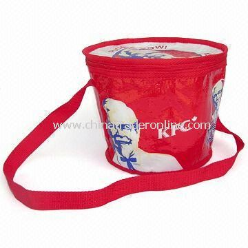 Cooler/Ice Bag, Made of Water-resistant and Recyclable Materials, Customized Designs are Accepted