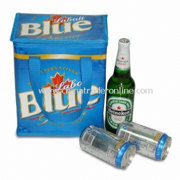 Blue PP Woven Cloth Beer Cooler/Ice Bag
