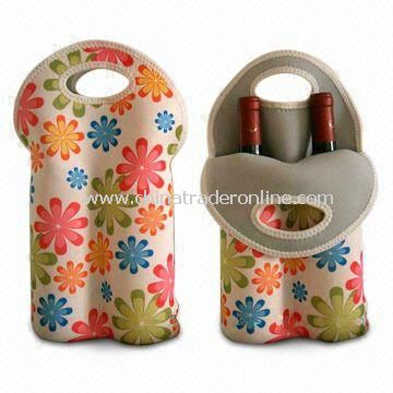 Bottle Bag with One Main Compartment and 2 Handles, Made of 3mm Neoprene