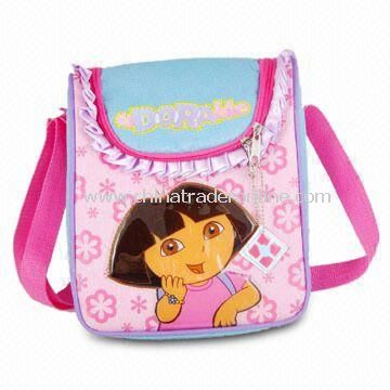 Childrens Lunch Boxes & Cooler Bags, Made of 600D Polyester with Puff Print