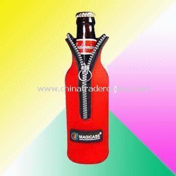 Durable 333ml - 355ml Neoprene Bottle Cooler Bag with Long Use Time
