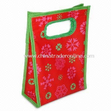 Eye-catching Promotional Novelty Lunch Bag with Rotogravure Print, Measures 21 x 10 x 30cm
