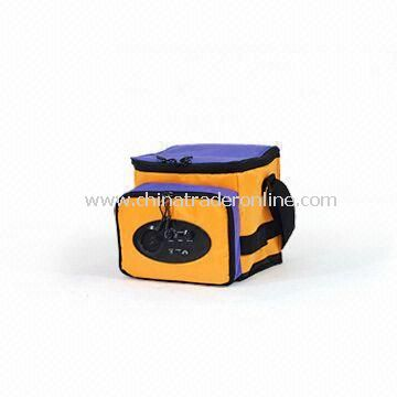 MP3 Speaker and Radio (Two-in-one) Cooler Bag with Webbing and Velcro