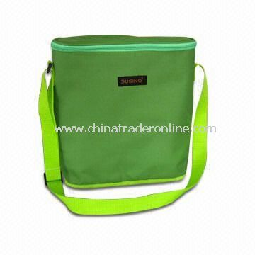 Three-bottle Cooler Bag, Made of Polyester 600D with PVC Lining