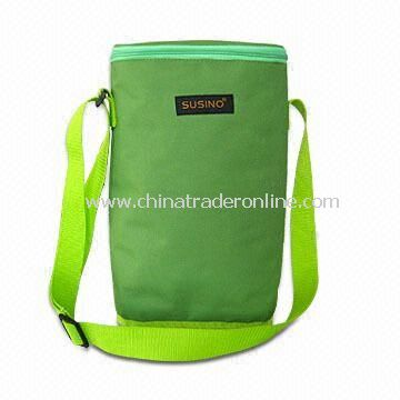 Two-bottle Cooler Bag, Made of Polyester 600D