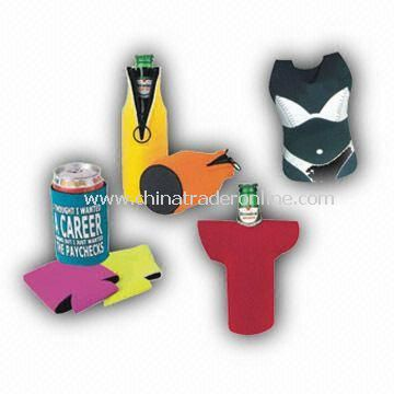 Water-resistant Bottle Holders, Made of Neoprene, Available in Various Patterns and Sizes