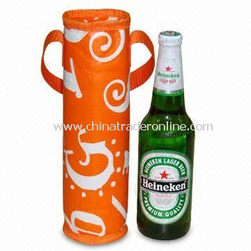 Water-resistant One Bottle Cooler Bag, Measures 10 x 30cm, OEM Orders are Welcome