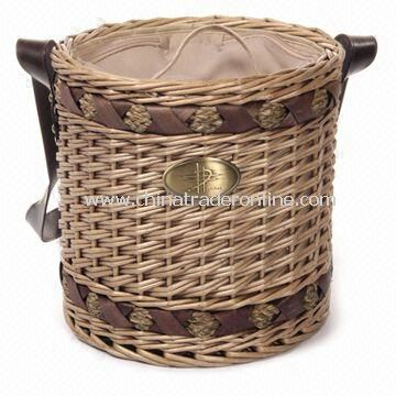 Willow + Seagrass Cooler Basket, Measuring 30 x 30cm