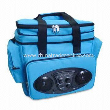 600 x 600D Polyester Cooler Bag with AM/FM Stereo Radio and Upper Zipper Pocket