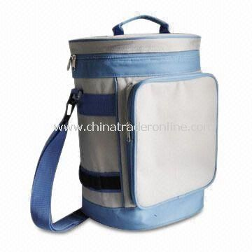 600D Polyester Cooler Bag with PVC Coating, Measures 10 x 7.5 x 14-inch, for Promotions