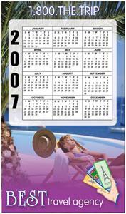 Bic 20 mil Calendar Magnet - Medium