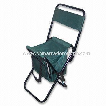 Cooler Bag with Chair, Integrates Leisure Chairs and Cooler Bags in Compact Facility