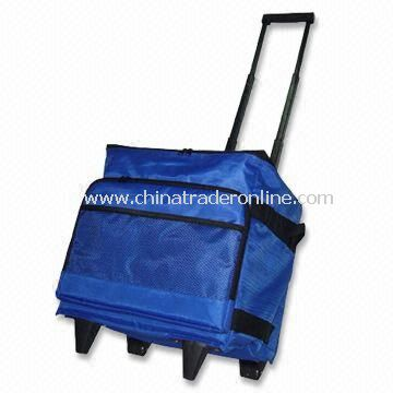 Cooler Bag with Creative Hand-pulling Handle and Rolling Wheel