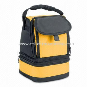 Cooler Bag with Detachable into Two Insulated Compartments, Made of 210 Denier Polyester