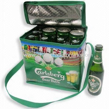 Cooler Wine Bottle Bag, Made of Nonwoven or PP Woven, Suitable for Promotions and Shopping Bags
