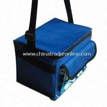 Promotional Cooler Bag with Adjustable Strap and Front Pocket