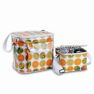 24 Cans Bright Color PVC Picnic Bag with Insulated Aluminum Foil Lining