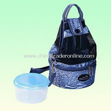 420D Polyester Lunch Cooler Bag with Insulated Silver PVC Lining