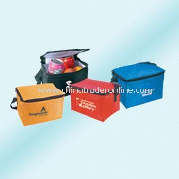 Nylon Cooler Bag with Zippered Lid and Outer Front Pocket