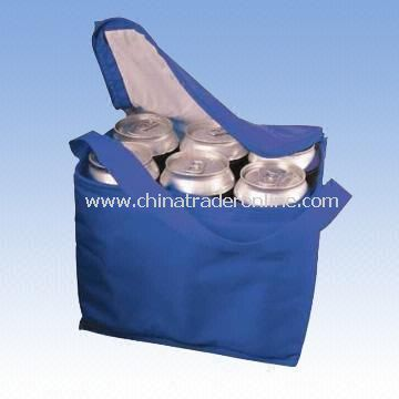 Polyester or Nylon Cooler Bag with Webbing Shoulder Strap from China