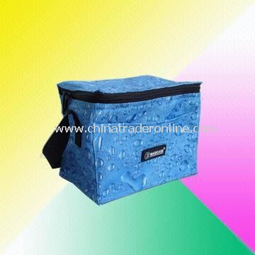 Six-Can Cooler Bag with Water Drop Design