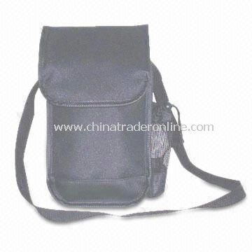 600D and PVC Leather Promotional Cooler Bag, Measures 12 x 7 x 5-inch