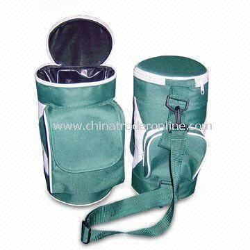 Cylinder-shaped Cooler Bag, Made of 600D Polyester, Customized Logos are Accepted