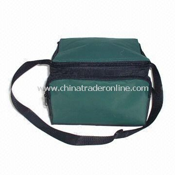 Promotional Cooler Bag with Strap, Made of 70D Polyester with PVC Coating, Also Keeps Items Warm