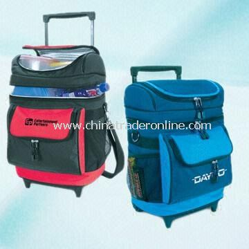 600D Polyester Cooler on Wheels with Dual Insulated Compartments