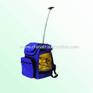 Cooler Backpack with Wheels and 52cm Long Curved Trolley Handle