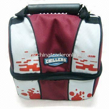 Durable Cooler Bag, Made of 600D, With a Nylon Handle