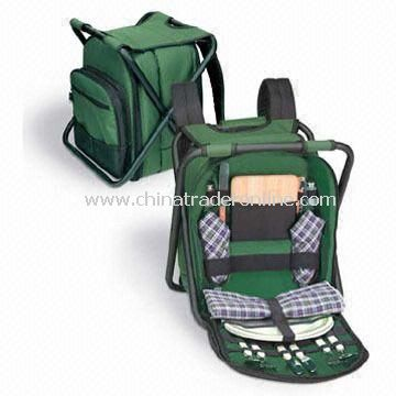 Picnic cooler bags-1 Insulated Picnic Cooler Bag with Chair Function, Made of 600D Polyester