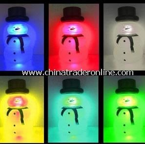 Seven Color Snow man Solar Light Jar, Solar Jar, Solar Sun Jar