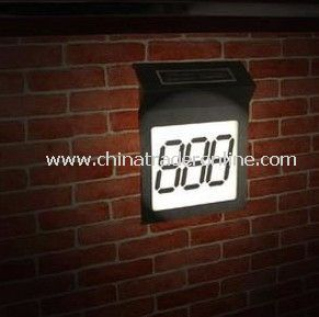 Solar House Number Light