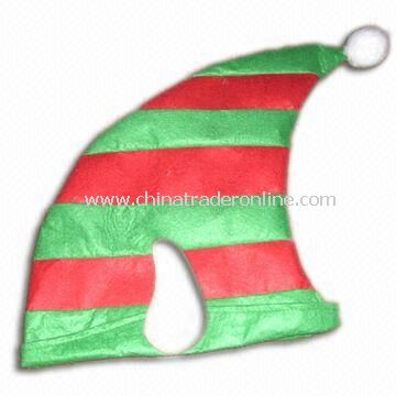 7.5-inch Xmas Hat with Customized Requirements, Available in Green and Red from China