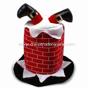 Christmas Chimney Hat with 20 or 35cm Radius, Available in Adult Size from China