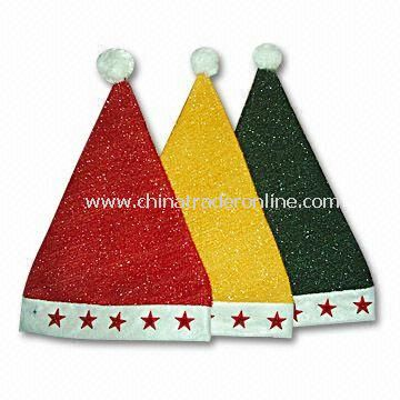 Christmas Hats, Customized Logos are Accepted, Available in Various Sizes