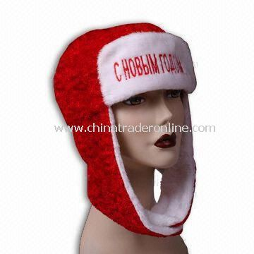 Christmas Russian Hat in Adult Size, Measures 17 x 30cm