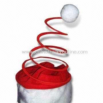 Christmas Spring-loaded Hat, Customized Logos are Accepted, Available in Various Sizes from China